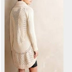 S Angel of the North Anthro Deni Cocoon Sweater